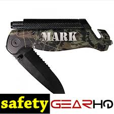 groomsmen knife gifts engraved black gray or camo survival rescue tactical pocket knife
