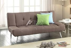 Click Clack Sofa Bed by Vogue 3 Seater Pu Leather Click Clack Sofa Bed Brown Sydney