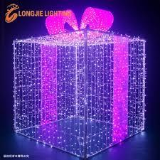 christmas present light boxes l 2m h2 2m large decorative led christmas gift boxes 3d motif