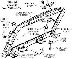 corvette supply 1968 72 327 350 support diagram view chicago corvette supply