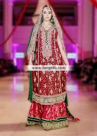 sana abbas traditional red wedding dresses bridal wear ibfjw 2013