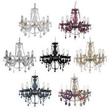 Marie Chandelier Searchlight Marie Therese Five Light Chandeliers Various Colours