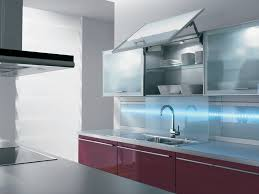 Kitchen Cabinets With Frosted Glass Brilliant Stainless Steel Kitchen Cabinet Doors Frosted Glass