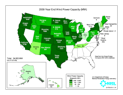 Global Wind Map File United States Installed Wind Power Capacity By State 2009 Jpg