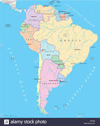 south america map atlas political america south america continent states map atlas