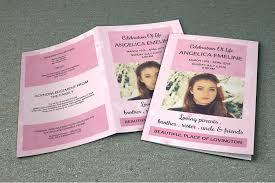 funeral bulletin template funeral programs template