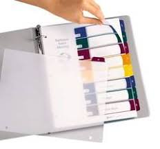 avery ready index table contents dividers 8 tab letter