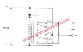 automatic reverse polarity switch by relay u2013 electronic projects