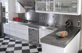 plan de travail en zinc pour cuisine plan de travail en inox cuisine ouverte inox plans
