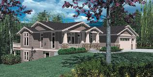 sophisticated house plans for front sloping lots pictures best