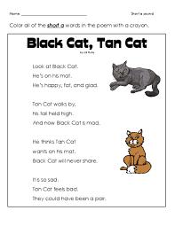 short u0027a u0027 cat poem cat poems free printable worksheets and
