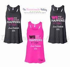 bridesmaids tank tops we are what happens in vegas personalized bridesmaids