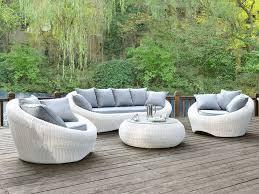 canape jardin salon jardin whiteheaven résine tressée blanc 3 1 1 table