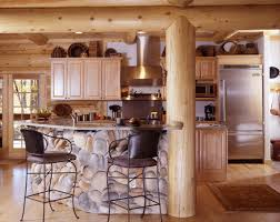 log home kitchen design yellowstone log homes