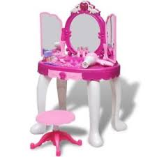 childrens dressing table mirror with lights 3 mirror kid toy vanity dressing table make up desk light sound