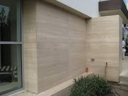 Exterior Wall Design Exterior Cladding Novana Travertine Marble Modern House