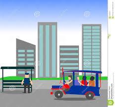 philippine jeep manila jeepney city scape stock illustration image 49084641