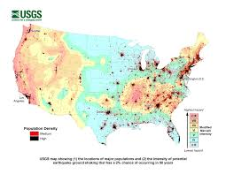 us geological earthquake map half of exposed to potentially damaging earthquakes