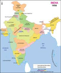map in india in 1956 india map in 1956