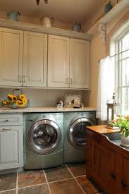laundry in kitchen jenny rausch rustic laundry room st louis by karr bick