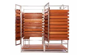 Outdoor Pool Showers - sleek u0026 sustainable prefab outdoor shower assembles in 30 minutes