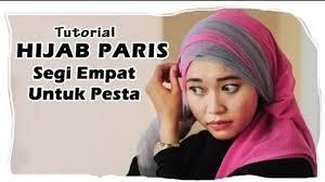 tutorial hijab paris ke pesta tutorial hijab paris segi empat ke pesta kombinasi tile vidio com