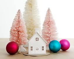 putz house ornament diy kit colonial glitter house