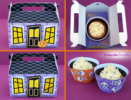 halloween haunted house cupcake box candy u0026 favor box