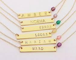 bar necklace personalized custom bar necklace etsy