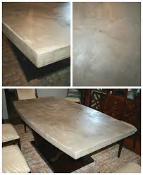 concrete table top chic and durable