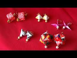 origami earrings origami earrings