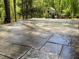 Stain Existing Concrete Patio by Decorative Concrete Of Virginia Stained Concrete Stamped