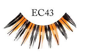 black and orange halloween fake eyelashes costumes wigs theater