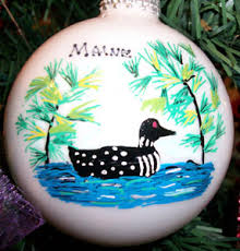 made in maine ornaments personalized ornaments