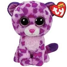 glamour pink leopard small beanie boo grand rabbits toys