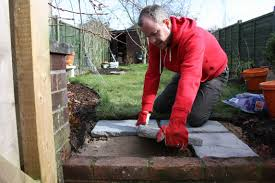 Laying Patio Slabs On Grass Easy Pavers Amateur Gardening