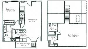 two apartment floor plans floor plan two bedroom loft woodsview apartments