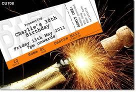 cu708 birthday invitation champagne and fireworks