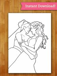 lgbtq brides coloring page printable download