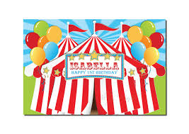 Carnival Themed Table Decorations Carnival Circus Backdrop Banner Printable Birthday Table