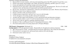 Resume For Property Management Job by Property Manager Resume Job Description Sample Property Manager