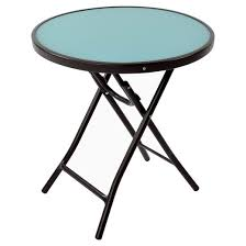 Blue Accent Table Bistro Round Folding Accent Table Blue Room Essentials Target
