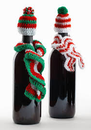 easy to make wine bottle hat and scarf pattern pattern l20606