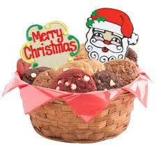 christmas basket merry christmas gift basket christmas cookie basket cookies by