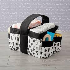 Large Basket For Storing Throw Pillows Nursery Organization U0026 Diaper Storage The Land Of Nod