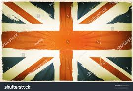 White Blue Orange Flag Vintage English Flag Poster Background English Country Stock