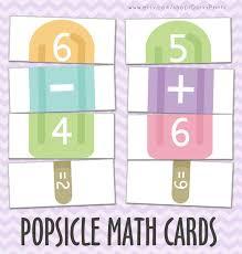 printable math game pdf popsicles kindergarten printable