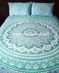 Tapestry Duvet Green Ombre Mandala Tapestry Bed Sheet U0026 Pillow Cases