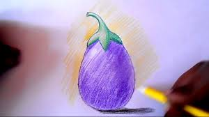 how to draw and shade brinjal step by step youtube