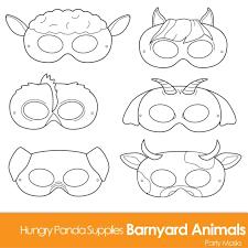 farm animal mask templates to print weeklyplanner website